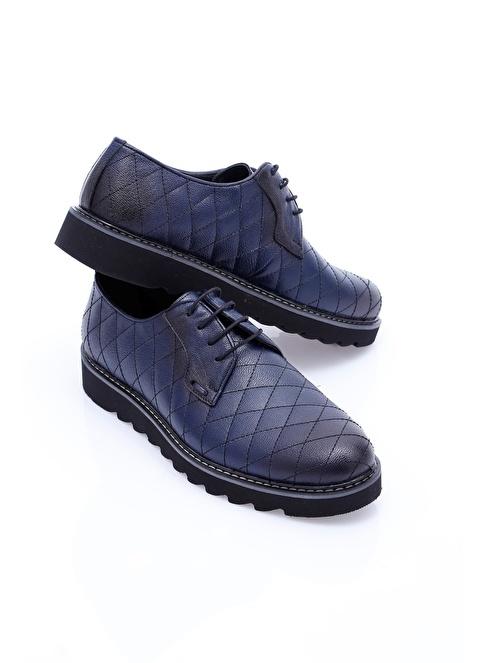 Wessi %100 Deri Bağcıklı Ayakkabı Lacivert